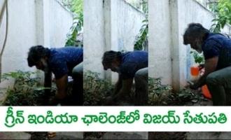 Makkal Selvan Vijay Sethupathi Accepts Green India Challenge