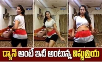 Anchor Vishnu Priya Belly Dancing Video