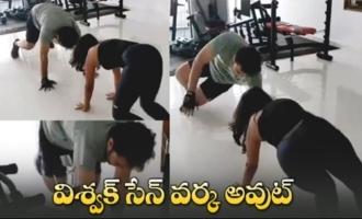 ActorActor Vishwak Sen Heavy Gym Workout   Vishwaksen Workout Video Sen Heavy Gym Workout
