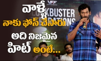 Vishal's Abhimanyudu blockbuster celebrations