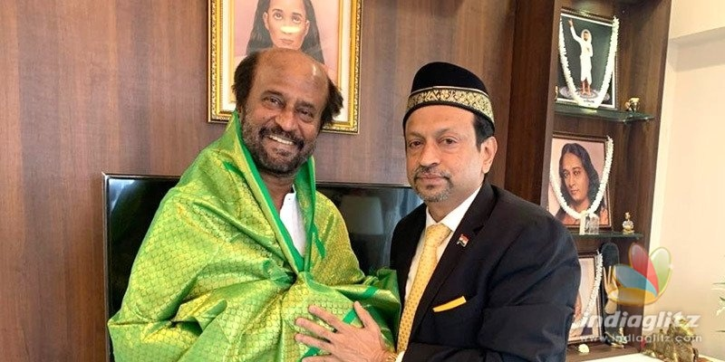 Hajj Associations Abu Backer meets Rajinikanth