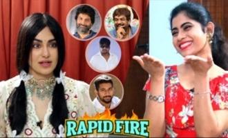 RAPID FIRE - Adah Sharma about Trivikram, Puri Jagannadh
