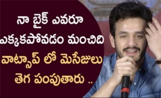Akhil Akkineni about phones, whatsapp, bikes, girlfriend & music