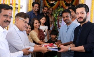 Akhil's flick with Bhaskar launched in style