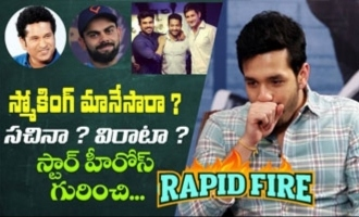Rapid fire  Akhil Akkineni on smoking habit