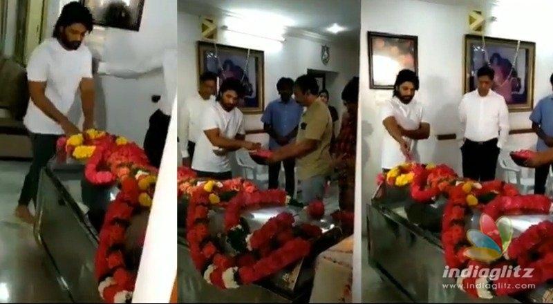 Allu Arjun pays homage to departed soul