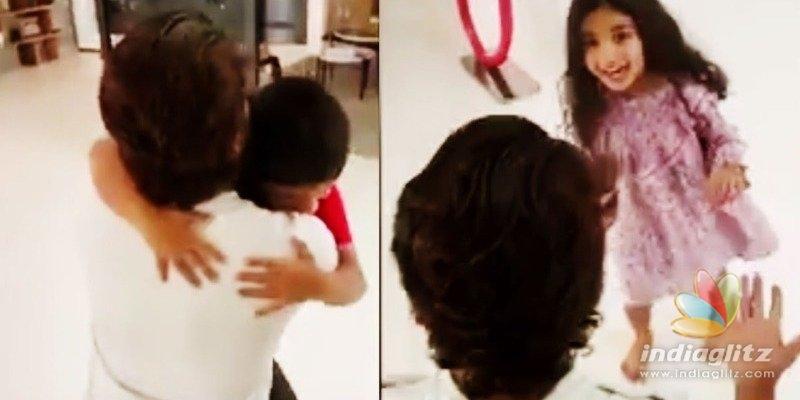 Video: Allu Arjun finally hugs his kids
