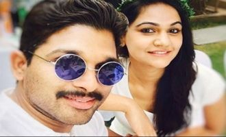 Pics: Allu Arjun & Sneha can't hold back their joy!