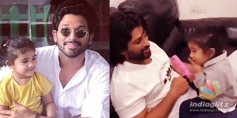 Allu Arjuns Fasak moment with Arhaa