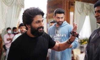 Allu Arjun's pics clicked on 'F3' set go viral