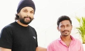 Pic Talk: After walking 210 km, fan ultimately meets Allu Arjun!