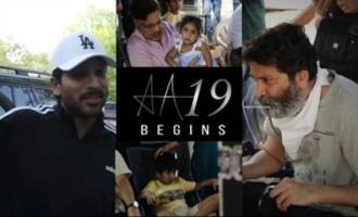 AA19 Shoot Begins Allu Arjun & Trivikram