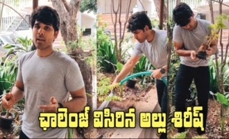 Allu Sirish Accepts Vishwak Sen's Green India Challenge