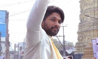 Allu Arjun donates one million for 'mandapam'