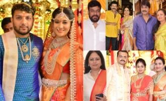 Celebs at Bandla Ganesh Brother's Daughter Wedding