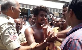 ప్రకాశం జిల్లాలో ఆటో డ్రైవర్ వీరంగం.. సైకోలా మారి..!