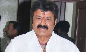 Workers dump waste in front of Balakrishna's residence