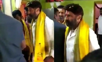 Balakrishna's aggressive behaviour