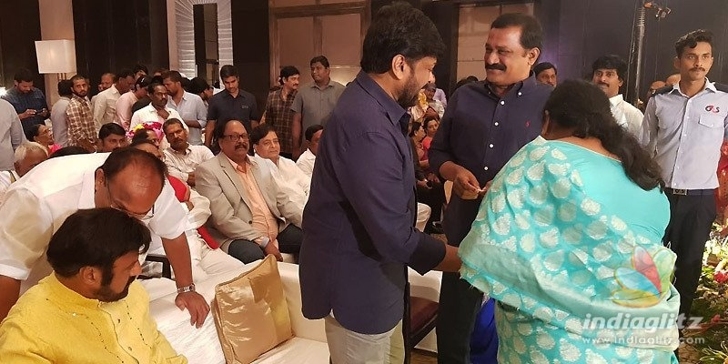 Balakrishna shares chemistry with Chiru at party