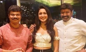 Pic Talk: Balakrishna, Boyapati, Pragya team up for wrap-up party