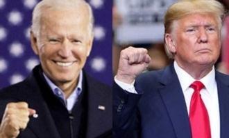 Biden and Trump winning states