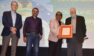Brahmanandam Felicitated In USA By South Asian Film Fest