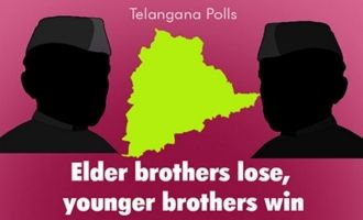 Telangana: Elder brothers lose, younger brothers win