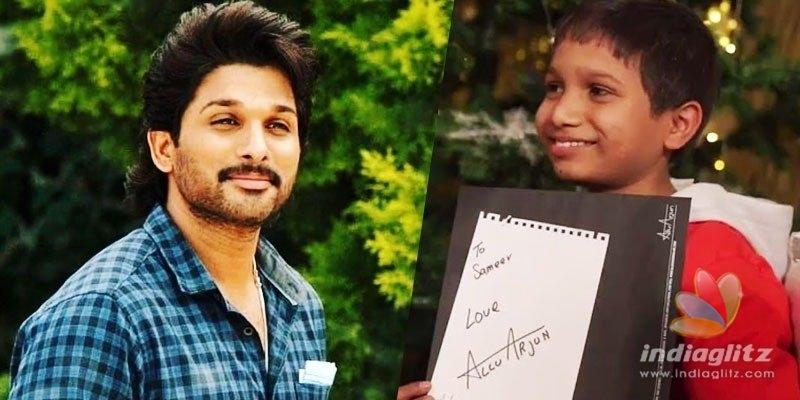 Allu Arjuns gesture for Sameer is so heart-touching!
