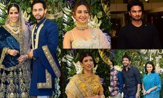 Celebs @ Saina Nehwal and Kashyap Wedding Reception