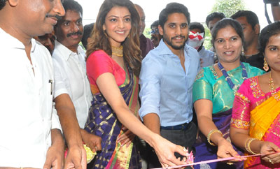 Naga Chaitanya & Kajal Inaugurate Chennai Shopping Mall
