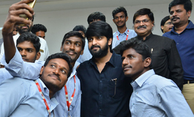 'Chalo' Team Promotional Tour At GIET College @ Rajahmundry