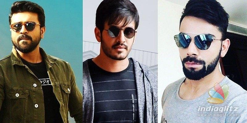 Pic Talk: Charan, Akhil in Virat Kohli-designed caps