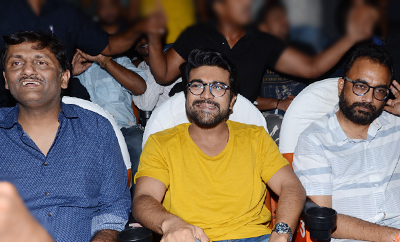 Ram Charan At Sudarshan Theater For Rangasthalam
