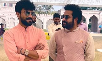 Pics: Charan poses with NTR, Rana