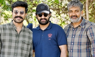 Pic Talk: NTR, Charan, Rajamouli's awesome pic with Hindi star