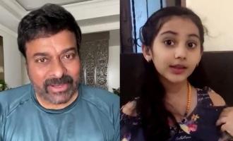 Chiranjeevi appreciates school girl's sweet gesture