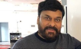 Chiru pays visit to Charan's film set