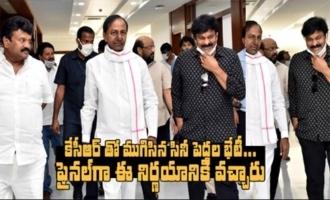 Chiranjeevi Meets KCR | Tollywood Stars Meets Telangana CM KCR | IndiaGlitz Telugu