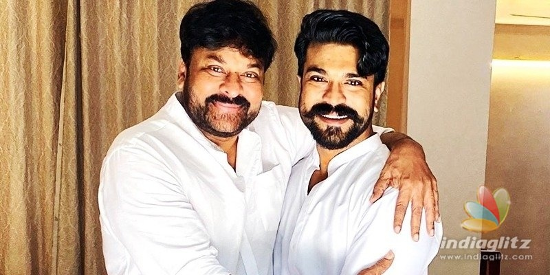 Chiranjeevi and Ram Charan show off special bonding on Fathers Day!