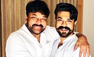 Chiranjeevi and Ram Charan show off special bonding on Father's Day!