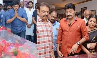 Chiranjeevi, Rajasekhar, Jeevitha Pay Last Respects To Vijaya Nirmala