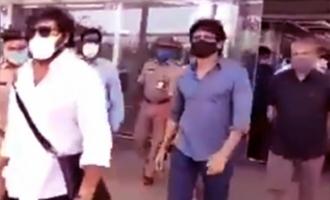Chiranjeevi, Nag, Rajamouli reach Gannavaram airport in special flight