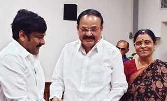 Chiranjeevi calls on Venkaiah Naidu for special screening