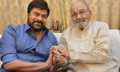 Chiranjeevi Meets Dadasaheb Phalke Awardee K Viswanath