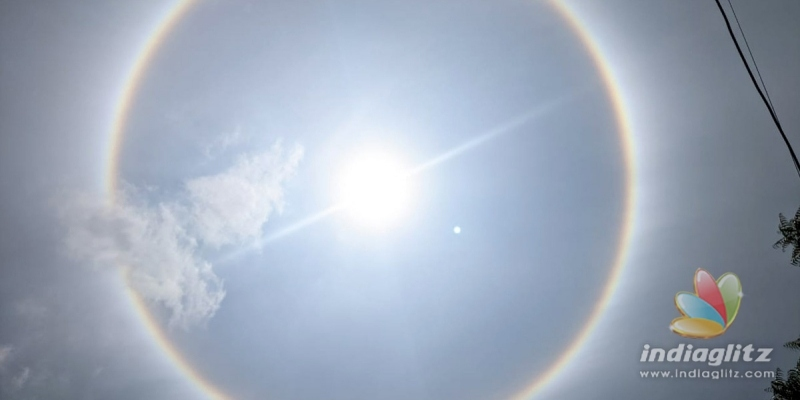 Pic Talk: Circular rainbow wows Hyderabadis