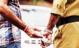 Cops arrests a Cop for taking bribe