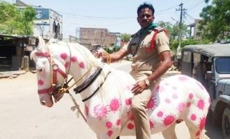 Viral Pic: Kurnool SI rides 'corona horse'