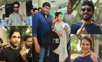 Telangana Elections 2018: Celebs cast their votes