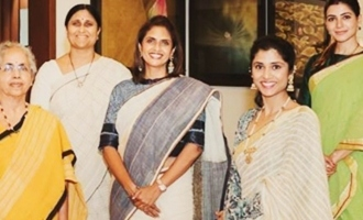 Daggubati clan poses for a pic to promote Lakshmi Daggubati's clothing line