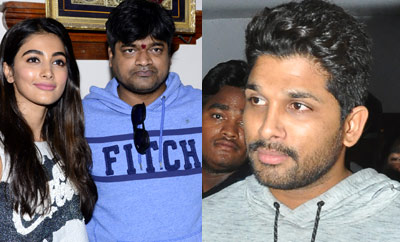 'Duvvada Jagannadham' Movie Team at Sandhya Theatre